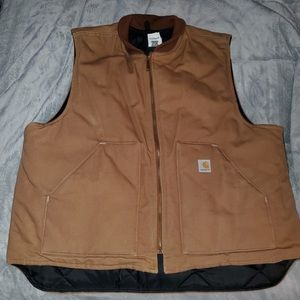 Carhartt Men's Duck Vest Quilt Lined New